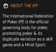 international federation of poker ifp