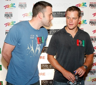 Matt Damon, Leonardo DiCaprio,  Ben Affleck illegal poker ring games hollywood actors