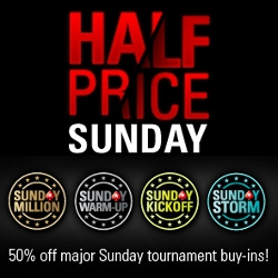 pokerstars half price sunday tournaments million warm up kick off storm