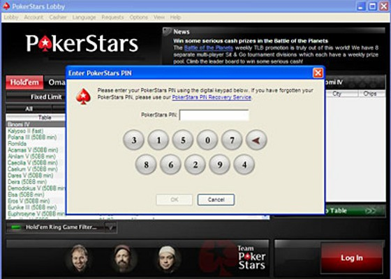 pokerstars login account