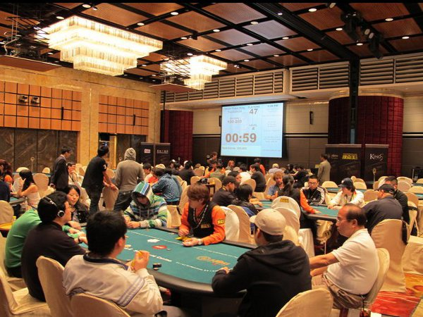 Poker King Club Macau APKT (Asian Poker King Tournament) room where the event is held including the High Roller tournament