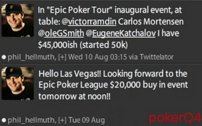 Phil Hellmuth at the Epic Poker League tournament Las Vegas