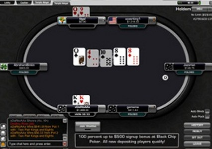 black chip poker review tables