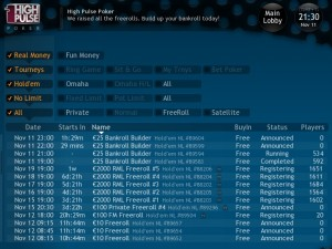 high pulse poker freerolls 750000 tournaments free money promotions
